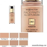 MF Тональная основа 3 в 1 Facefinity All Day Flawless 3-in-1, тон №47 (Nude) 30мл - фото 33447